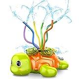 SAOCOOL Outdoor Toys Sprinkler for Kids, Water Toys Spinning Turtle Sprinklers Outside Toys with Wiggle Tubes, Kids Sprinkler for Yard Games