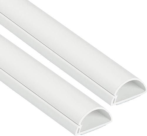 D-Line 30x15mm Moulure Décorative en Demi-Cercle | 1D3015W-2PK | Goulotte Électrique | Cache-Câble | 2 x 1m Longeurs,...
