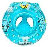 EOZY-Flotador de Natación para Niños Bebés de 6 a 36 Meses,Anillo de Natación,Nadar Anillo con Asiento de Seguridad Inflable de Piscina(Azul)