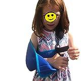 Kinder-Armschlinge, Schulterstütze für Kinder, medizinisch zugelassen, cool, einfach anzubringen/Größen, Daumenschlaufe, Aufkleber zur fröhlichen Heilung Unisex.