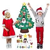 DXQDXQ Árbol de Navidad de Fieltro 3.74ft DIY Decoración del árbol de Navidad con 20 Adornos Desmontables Año Niños de Pared de Puerta Decoración Niños Decoración Colgante