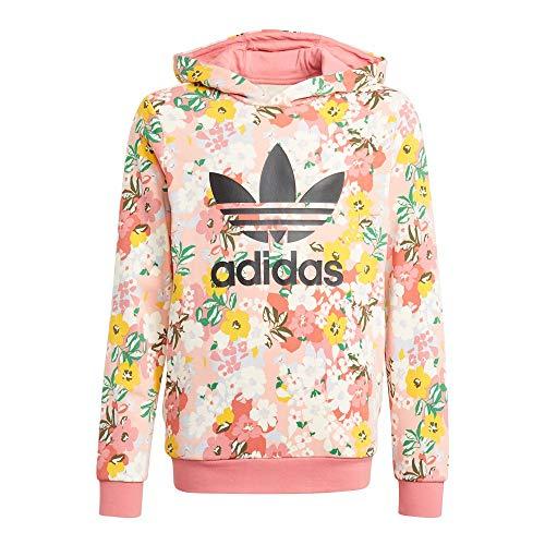 adidas Hoodie Sudadera con Capucha, Trace Pink/Multicolor/Black, 11 años para Niñas