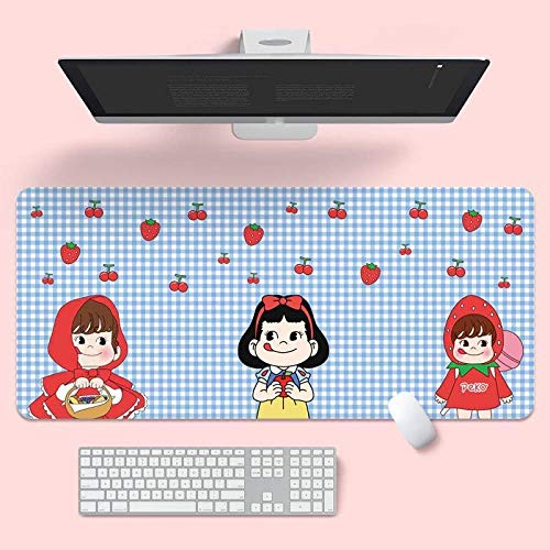 JIACHOZI 700×300×3mm(27.55×11.8×0.118 inch)Cartoon cute japanese animation improved precision and speed - rubber base for stable grip on smooth surfaces - non-slip Large Gaming Mouse Mat Pad table ma