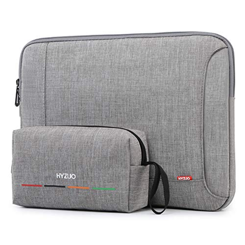 HYZUO 13-13.5 Inch Laptop Sleeve Bag Compatible with 13.5 Surface Laptop 3 2 1/ MacBook Air 13 2010-2017/ MacBook Pro 13 2012-2015/ HP ENVY 13/ Hp Spectre x360 13/ iPad Pro 12.9 2017 2015, Light Grey