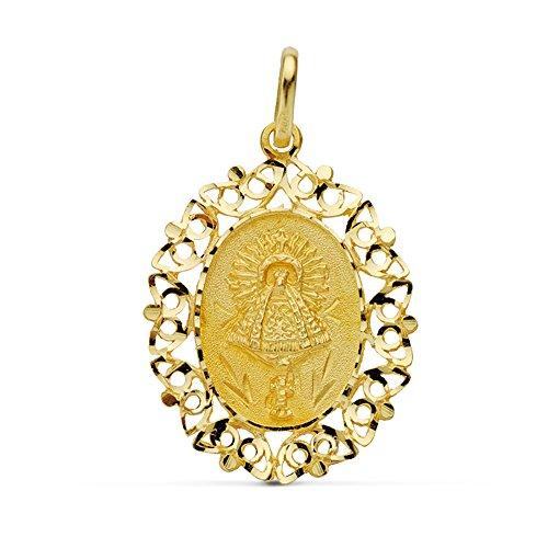 Medalla Virgen del Pilar 18 Ktes 27mm