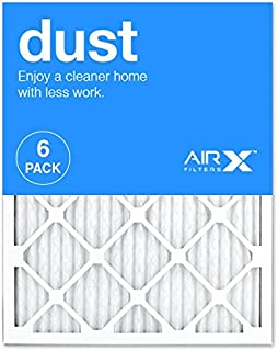 AIRx DUST 20x25x1 MERV 8 Pleated Air Filter - Made in the USA - Box of 6