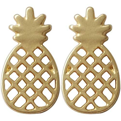 Mode-persoonlijkheid holle ananas oorbellen metalen textuur koude wind fruit oorbellen