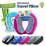 Cloudz Cool Gel & Bamboo Microbead Travel Pillow - Pink