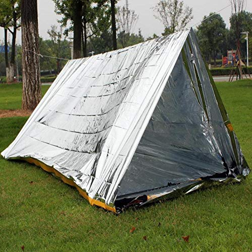 shunlidas 2 Persons Ultralight Tube Tent Emergency Survival Sunscreen Hiking Camping Tents For Shelter Outdoor First Aid