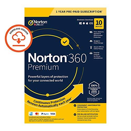 Norton 360 Premium 2020, Antivir...