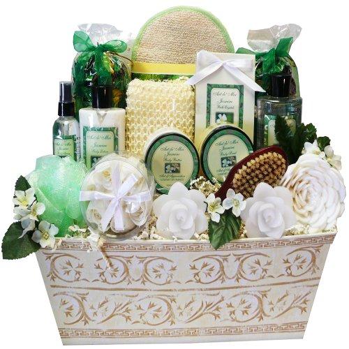 Jasmine Renewal Spa Relaxing Bath and Body Gift Basket Set, Large