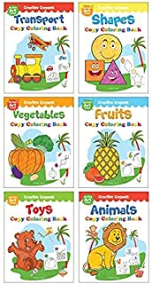 Colouring Books Super Boxset: Pack of 6 Crayon Copy Colour Books for Kids: Creative Crayons Series - A Pack Of 6 Crayon Co...