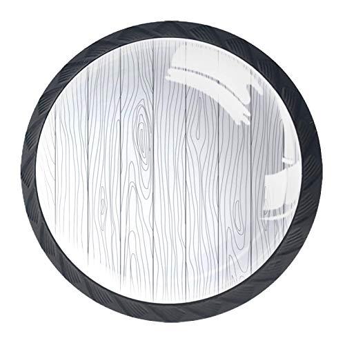 Las manijas del cajón tiran el vidrio de cristal redondo para el hogar, la cocina, el armario, el armario, madera blanca