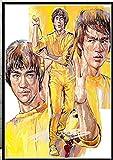 ZBYBGP Rompecabezas para Adultos,Rompecabezas Bruce Lee Kung Fu King,Rompecabezas para niños,Juego Intelectual,Aprendizaje,Juguetes educativos,1000 Piezas (75 x 50 cm)