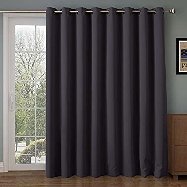 Rose Home Fashion Room divider curtain,Blackout&Thermal&Thick 108 inches long curtain,Extra Long and Wider Curtain,9 feet blackout curtains,over sizes curtains(100 by 108 Inches(8.5'x9')-Dark Gray)