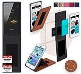 Hülle für HomTom HT7 Tasche Cover Case Bumper | Braun