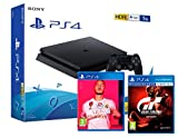 PS4 Slim 1Tb Negra Playstation 4 Consola + FIFA 20 + Gran Turismo Sport 'GT Sport'