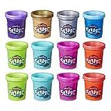 Play-Doh Slime HydroGlitz - Set de 12 Colores metálicos para niños de 3 años en adelante - Textura Suave y resbaladiza - No tóxico