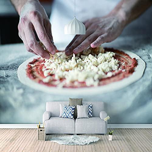 Papel Pintado 3D Murales Pizza- Fotomurales Para Salón Natural Landscape Foto Mural Pared, Dormitorio Corredor Oficina Moderno Festival Mural 350x256 cm - 7 tiras
