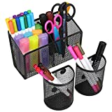 Magnetic Pencil Holder, Metal Strong Magnet Pen Cup, Magnetic Marker Storage Basket Organizer to Hold Whiteboard Refrigerator Fridge Locker Accessories