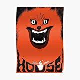 Hausu (ハウス) Retro Japanese Horror Movie Poster Small (16.4 x 23.1 in)   Posters Wall Art for College University Dorms, Blank Walls, Bedrooms   Gift Great Cool Trendy Artsy Fun Awesome Present