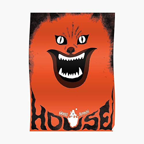 Hausu (ハウス) Retro Japanese Horror Movie Poster Small (16.4 x 23.1 in) | Posters Wall Art for College University Dorms, Blank Walls, Bedrooms | Gift Great Cool Trendy Artsy Fun Awesome Present