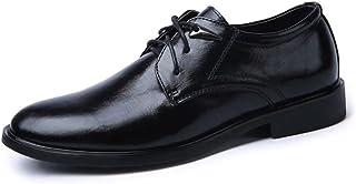 [eleitchtee] メンズシューズ 本革 レザーシューズ ビジネスシューズ 紳士靴 大きいサイズ 牛革 メンズ靴 カジュアルシューズ 通気性抜群 015-knyf-jr999(24 ブラック)