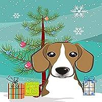 Carolines Treasures BB1611CHF Christmas Tree And Beagle Flag Canvas House Size