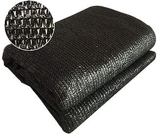 Sun Shade Cloth Zenda 70% Sunblock Black Greenhouse Shade Net 10'x20' UV Block Shade Tarp with Black Reinforced Binding& Brass Grommets for Garden Plants