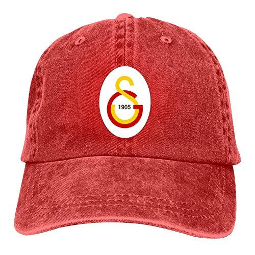 SDASE Galatasaray SPOR Kulubu FC Logo Verstellbare Denim-Mütze für Damen und Herren, in 7 Farben erhältlich Gr. Einheitsgröße, rot