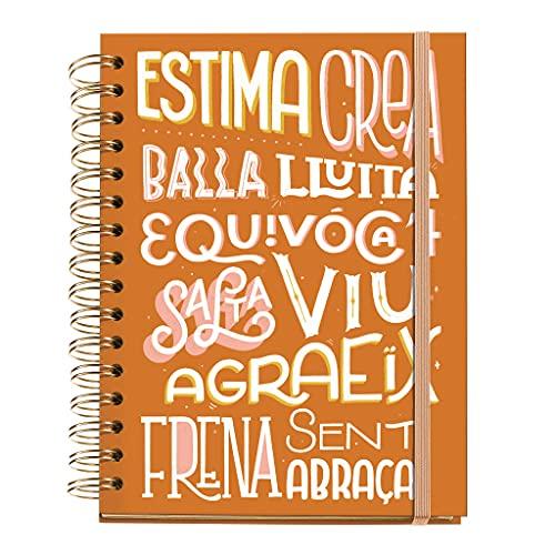 Miquelrius - Agenda Septiembre 2021 Junio 2022 - Semana Vista, Tamaño 15,5 x 21,3 cm, Happy Letters Palabras, Catalán