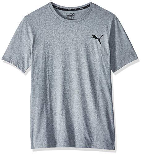 PUMA Herren ESS S Logo Tee T-Shirt, Grau (Medium Gray Heather_Cat), M
