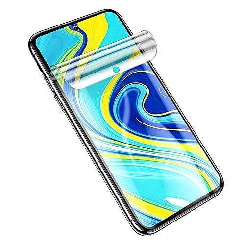 SOMEFUN【2 Piezas】Protector de Pantalla Compatible con Xiaomi Redmi Note 7 /Redmi Note 7 Pro 6.3Pulgadas Película de Hidrogel de TPU Suave de Cubierta Completa [Vidrio no templado,Transparente]