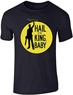 Hail to The King Baby Horror Army Zombie Graphic Tee T-Shirt for Men