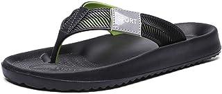 Comfortable/beautiful sandals and slippers Flip Flops Men'S Sandals Flat Heel Beach Shoes Summer Men'S Shoes Clip Feet Slippers (Color : Green)
