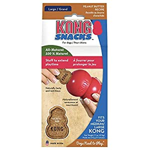 KONG – Snacks – All Natural Dog Treats for KONG Classic Rubber Toys – Peanut Butter Flavor for Large Dogs (11 Ounce)