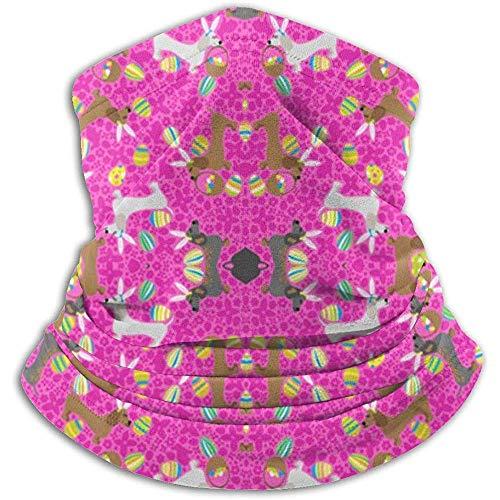 Giles John Gaiter Warmer Gaiter It 'S The Easter Dachshund Pink Mascarilla A Prueba De Viento para Snowboard De Esquí