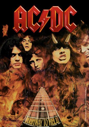 empireposter AC/DC - Highway to Hell Musik Posterflaggen Fahne - Grösse 75x110 cm