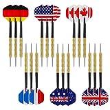 Accmor 18 pcs Steel Tip Darts, Professional Metal Darts, Darts Metal Tip Set, Detachable Steel Darts