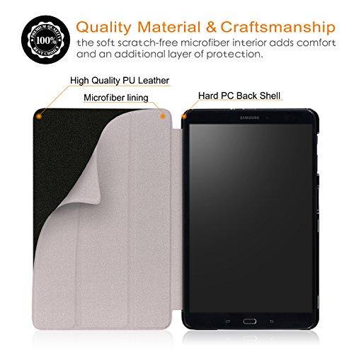 Xuanbeier Ultradünne Hülle Kompatibel mit Samsung Galaxy Tab A 10.1 2016 SM-T580/T585 (A6) Tablette Schutzhülle mit Ständer und Auto Schlaf/Wachen Funktion,Würfel