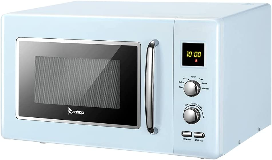 Retro Microwave with online shopping Turntable Push-Button Ft OFFicial shop Door 0.9 900-Wa Cu