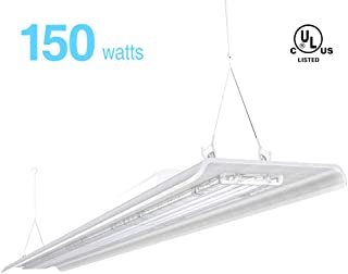 HYPERLITE 4FT LED High Bay Lighting 150W 28,000lm [800W Fluorescent Equiv.] 5000K Linear Fixture 1-10v Dimmable | UL&DLC Approved IP60 | Meanwell Driver | Industrial Indoor Commercial Light 2-Pack