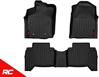 Rough Country Floor Liners (fits) 2016-2019 Tacoma Double Cab 1st 2nd Row Weather Rugged Mats M-71216