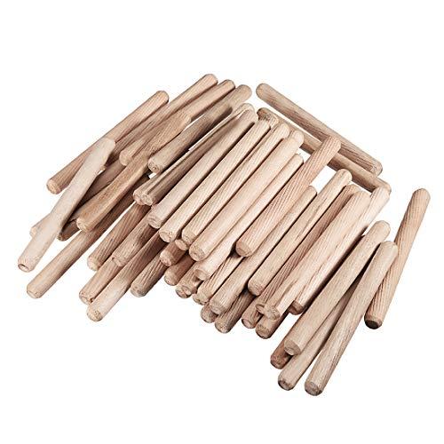 sourcing map 50 Stücke Holz Ofen Getrocknet kanneliert Abgeschrägt Hartholz 10x100mm Holzen