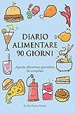 Diario Alimentare 90 Giorni: Agenda Alimentare Giornaliera da Compilare