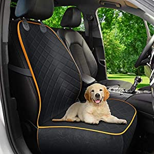 Active Pets Front Seat Dog Cover, Durable Protector Against Mud & Fur Waterproof, Scratch Proof & Nonslip Seat Pet Cover – Dog Car Seat Cover for Front Seat With Safety Anchors for Cars, Trucks & SUVs