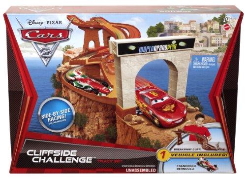Disney Cars 2 Cliffside Challenge Porta Corsa Kit de Rails