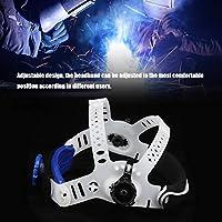 溶接マスクヘッドバンド、溶接ヘルメットヘッドバンド、溶接機械工業用のABSコンパクトサイズ機能溶接機産業用アプリケーション(white)