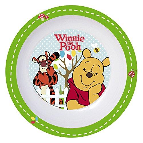 P : OS 68916 Profondeur Disney Winnie l'Ourson – Assiette en mélamine Diamètre : 19,5 cm