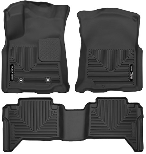 Husky Liners 53741-53801 - X-Act Contour - First and Second Rows All Weather Custom Fit Floor Liners for 2016 Toyota Tacoma Double Cab